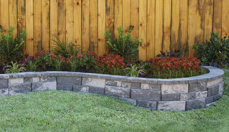 rock wall landscaping cheap rockwall small no core pavestone creating beautiful landscapes