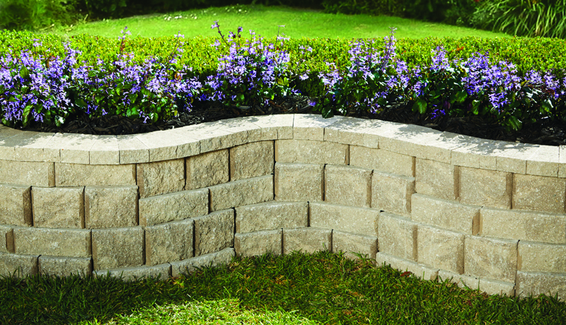 rock wall landscaping outdoor rockwall small no core pavestone creating beautiful landscapes